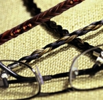 Cowboy Collectibles Horse Hair Eyeglass Leads-Spiral