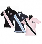 E COUTURE Ladies Bermuda Short Sleeve Polo Shirt