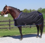 420D Nylon Open Front Horse Sheet - Black