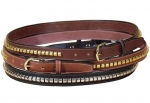 "Tory Leather 1"" Clincher Belt"