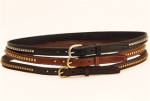 "Tory Leather 3/4"" Leather Belt with Clinchers"