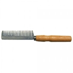 Aluminum Pulling Comb w/ Wood Handle