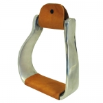 Aluminum Western Curved Stirrups w/Leather Tread