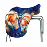 ART of RIDING Saddle Cover - Twin Horses Design