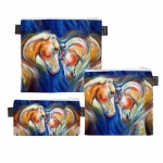 ART of RIDING Trio Bags - Twin Horses Design