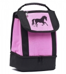 AWST Running Horse Print Dual Compartment Lunch Tote