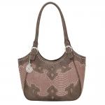 Bandana Salinas Zip Top Scoop Tote - Soft Rose