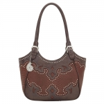 Bandana Salinas Zip Top Scoop Tote - Rich Clay