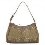 Bandana Salinas Zip Top Shoulder Bag - Soft Olive