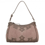 Bandana Salinas Zip Top Shoulder Bag - Soft Rose