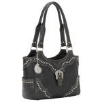Bandana San Marcos Zip Top Tote - Stallion Black