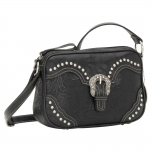 Bandana San Marcos Zip Top Crossbody Handbag - Stallion Black