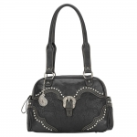 Bandana San Marcos Zip Top Satchel - Stallion Black