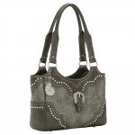 Bandana San Marcos Zip Top Tote - Wood Smoke