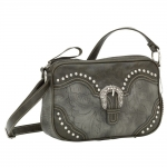 Bandana San Marcos Zip Top Crossbody Handbag - Wood Smoke
