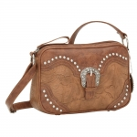 Bandana San Marcos Zip Top Crossbody Handbag - Pumpkin Spice