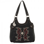 Bandana Sheridan Zip Top Scoop Tote - Black