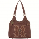 Bandana Sheridan Zip Top Scoop Tote - Clay