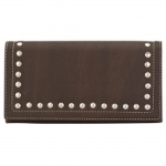 Bandana Signature Flap Wallet - Chocolate
