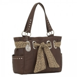 Bandana Signature Zip Top Carry-All Tote - Chocolate