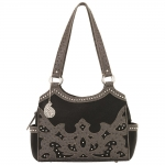 Bandana Sugarland 3 Compartment Scoop Top Tote - Black