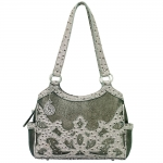 Bandana Sugarland 3 Compartment Scoop Top Tote - Silver