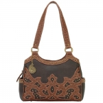 Bandana Sugarland 3 Compartment Scoop Top Tote - Brown