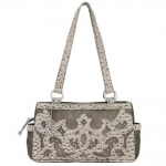 Bandana Sugarland 3 Compartment Tote - Silver