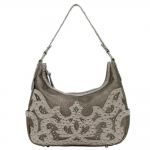 Bandana Sugarland Zip Top Hobo Handbag - Silver