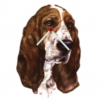 Basset Hound Head Shaped Clock