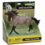 Bay Roan Model Horse Box Set