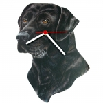 Black Lab Head Shaped Clock