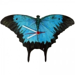 Blue Mountain Swallowtail Butterfly Shaped Clock