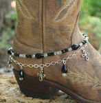 Boot Candy Crystals and Crosses Boot Accessories Bracelet