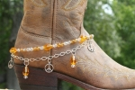 Boot Candy Crystals and Peace Boot Accessories Bracelet