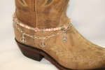 Boot Candy Crystals, Pearls and Peace Boot Accessories