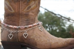 Boot Candy Crystals, Pearls and Hearts Boot Accessories