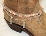 Boot Candy Crystals, Pearls and Crosses Boot Accessories