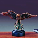 "Bronze Finish 11.5"" Perched Eagle Sculpture"