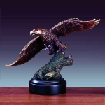 "Bronze Finish 13"" Soaring Eagle Sculpture"