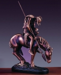 "Bronze Finish 13.5"" End Of The Trail Horse Sculpture"