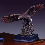 "Bronze Finish 15"" Searching on Wave Eagle Sculpture"
