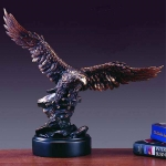 "Bronze Finish 17"" Soaring Eagle Sculpture"