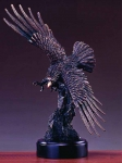 "Bronze Finish 17.5"" Soaring Eagle Sculpture"