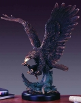 "Bronze Finish 25"" Eagle Sculpture"