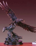 "Bronze Finish 27"" Eagle Spreading Wings Sculpture"