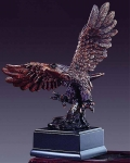 "Bronze Finish 6"" Eagle Taking Flight Sculpture"