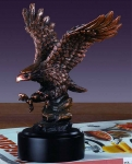 "Bronze Finish 7"" Landing Eagle Sculpture"