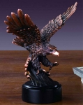 "Bronze Finish 7.5"" Landing Eagle Sculpture"
