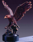 "Bronze Finish 8"" Eagle and Fish Sculpture"